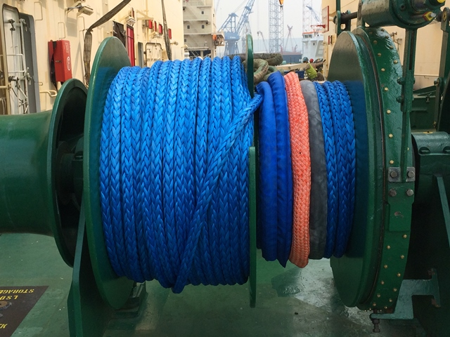 Samson mooring ropes, on Baitra